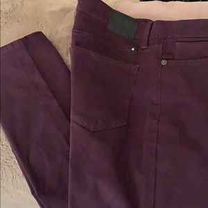 Lucky Brand Jeans brook legging 14/32 eggplant